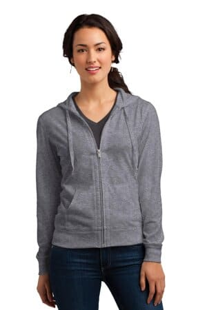 district women's fitted jersey full-zip hoodie dt2100