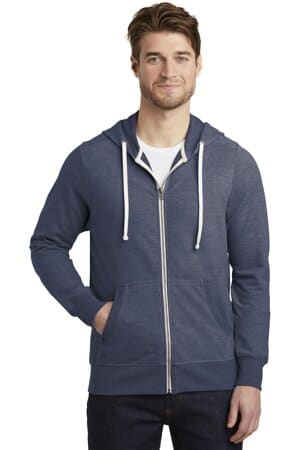 DT356 district perfect tri french terry full-zip hoodie
