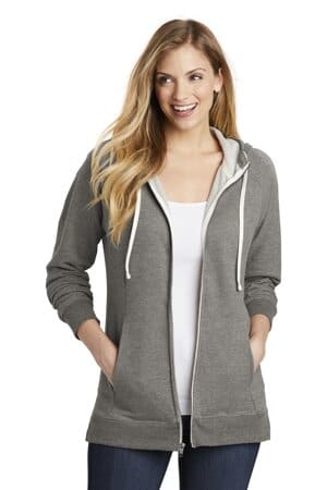 district women's perfect tri french terry full-zip hoodie dt456