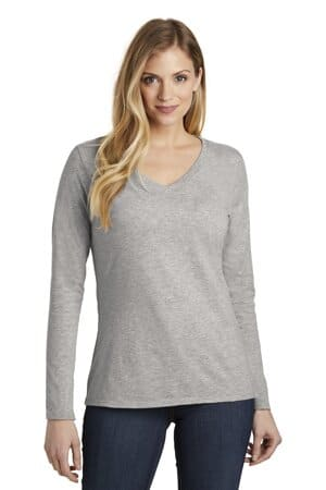 district women's very important tee long sleeve v-neck dt6201