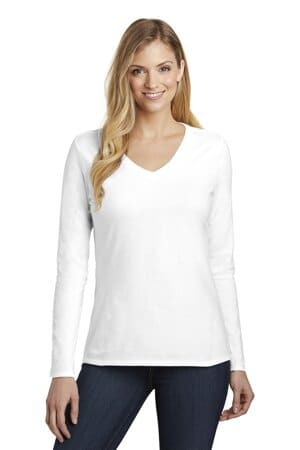 DT6201 district women's very important tee long sleeve v-neck