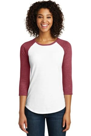 district women's fitted very important tee 3/4-sleeve raglan dt6211