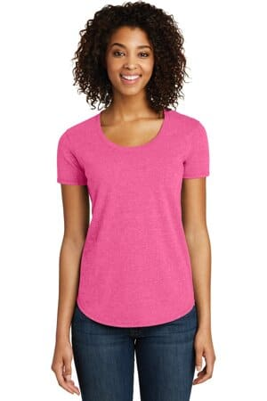 DT6401 district women's fitted very important tee scoop neck