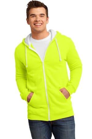district the concert fleece full-zip hoodie dt800