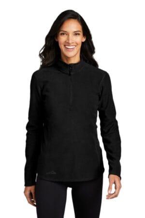 EB227 eddie bauer ladies 1/2-zip microfleece jacket