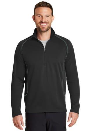 eddie bauer smooth fleece base layer 1/2-zip eb236