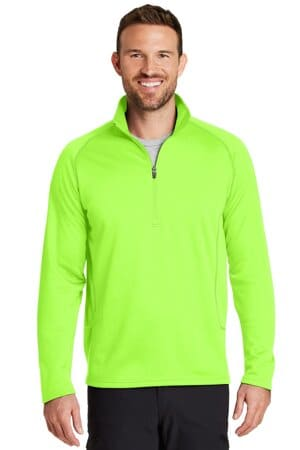 eddie bauer smooth fleece base layer 1/2-zip eb236