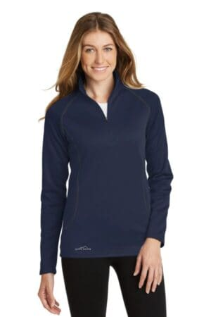 eddie bauer ladies smooth fleece base layer 1/2-zip eb237
