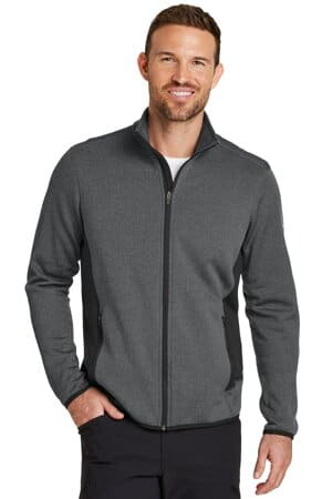 eddie bauer full-zip heather stretch fleece jacket eb238