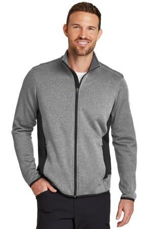 eddie bauer full-zip heather stretch fleece jacket eb238