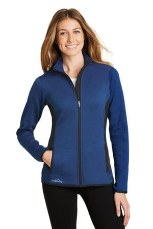 eddie bauer ladies full-zip heather stretch fleece jacket eb239