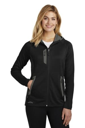 eddie bauer ladies sport hooded full-zip fleece jacket eb245