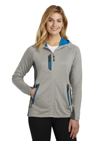 eddie bauer ladies sport hooded full-zip fleece jacket eb245