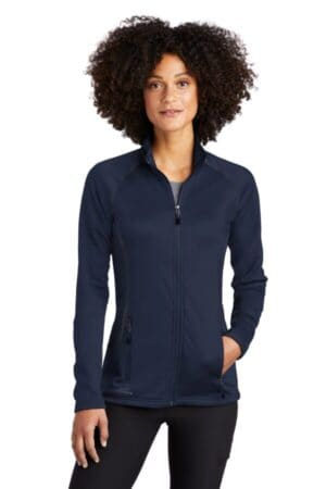 eddie bauer ladies smooth fleece base layer full-zip eb247