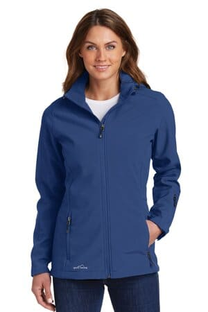 EB537 eddie bauer ladies hooded soft shell parka eb537