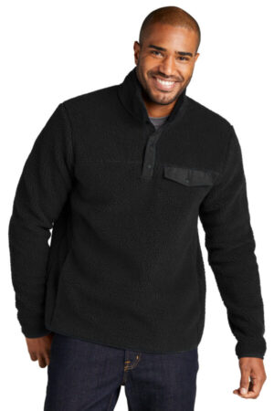 F140 port authority camp fleece snap pullover