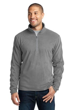 F224 port authority microfleece 1/2-zip pullover f224