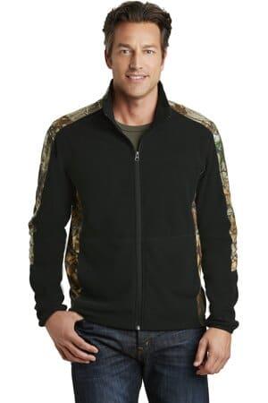 port authority camouflage microfleece full-zip jacket f230c