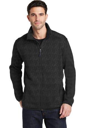 F232 port authority sweater fleece jacket