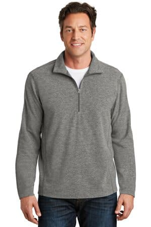 port authority heather microfleece 1/2-zip pullover f234