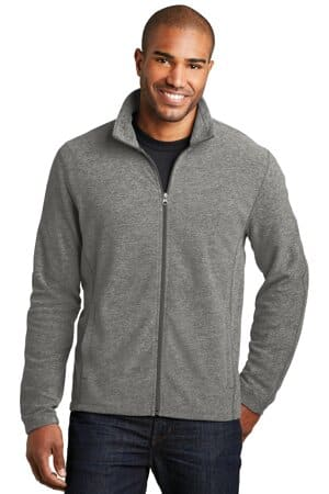 port authority heather microfleece full-zip jacket f235