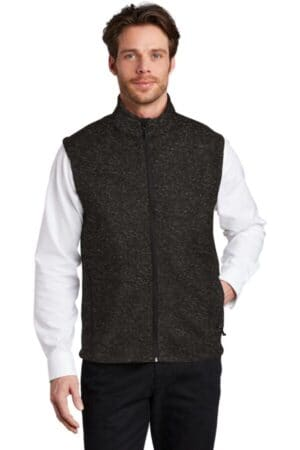 F236 port authority sweater fleece vest f236