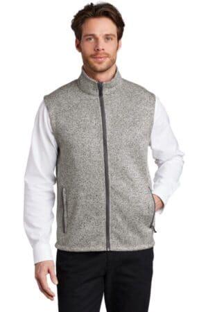 F236 port authority sweater fleece vest f236