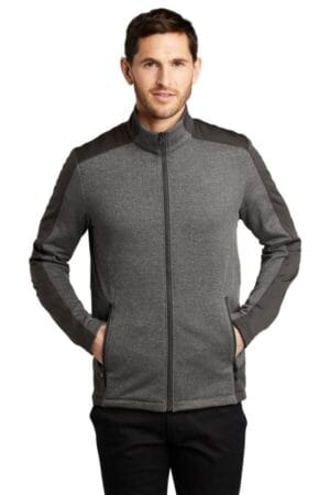 F239 port authority grid fleece jacket