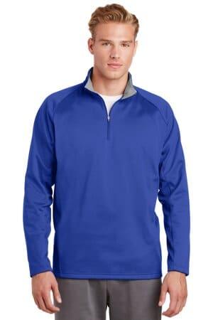 sport-tek sport-wick fleece 1/4-zip pullover f243