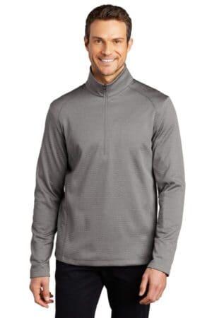 port authority diamond heather fleece 1/4-zip pullover f248