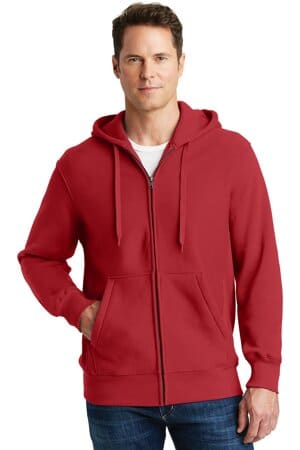 sport-tek super heavyweight full-zip hooded sweatshirt f282