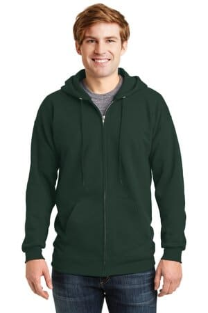 hanes ultimate cotton-full-zip hooded sweatshirt f283
