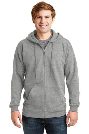 hanes ultimate cotton-full-zip hooded sweatshirt f283