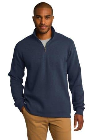 F295 port authority slub fleece 1/4-zip pullover f295