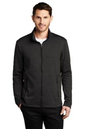F905 port authority collective striated fleece jacket