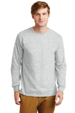 gildan-ultra cotton 100% cotton long sleeve t-shirt g2400
