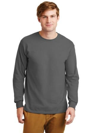 gildan-ultra cotton 100% cotton long sleeve t-shirt g2400