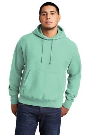 GDS101 champion reverse weave garment-dyed hooded sweatshirt