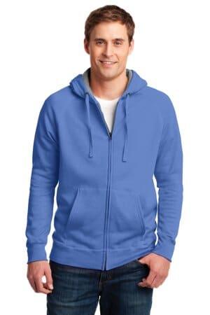 HN280 hanes nano full-zip hooded sweatshirt hn280