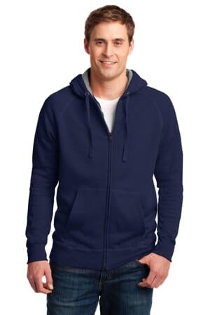 HN280 hanes nano full-zip hooded sweatshirt hn280