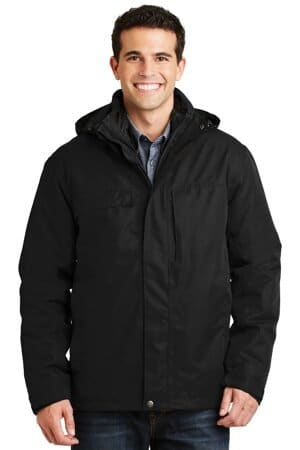 J302 port authority herringbone 3-in-1 parka j302