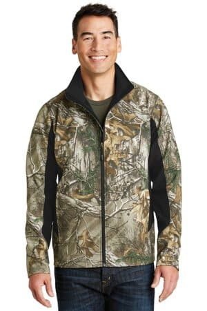 port authority camouflage colorblock soft shell j318c