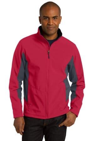 port authority core colorblock soft shell jacket j318