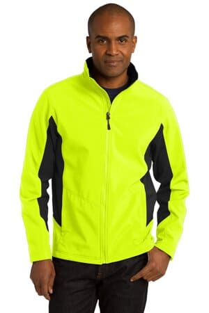 port authority core colorblock soft shell jacket j318