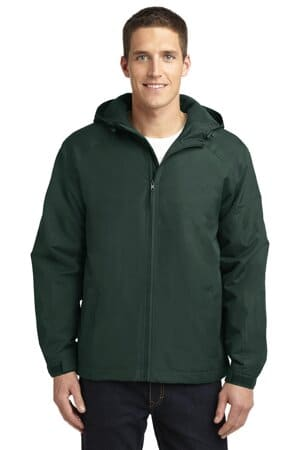 J327 port authority hooded charger jacket j327
