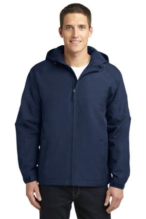 J327 port authority hooded charger jacket
