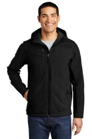J335 port authority hooded core soft shell jacket