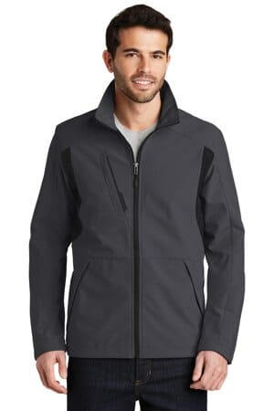 J336 port authority back-block soft shell jacket j336