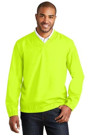 J342 port authority zephyr v-neck pullover j342