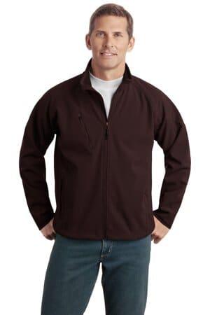 TLJ705 port authority tall textured soft shell jacket